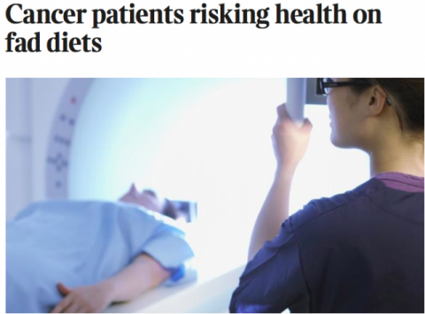 Cancer patients risking health on fad diets!