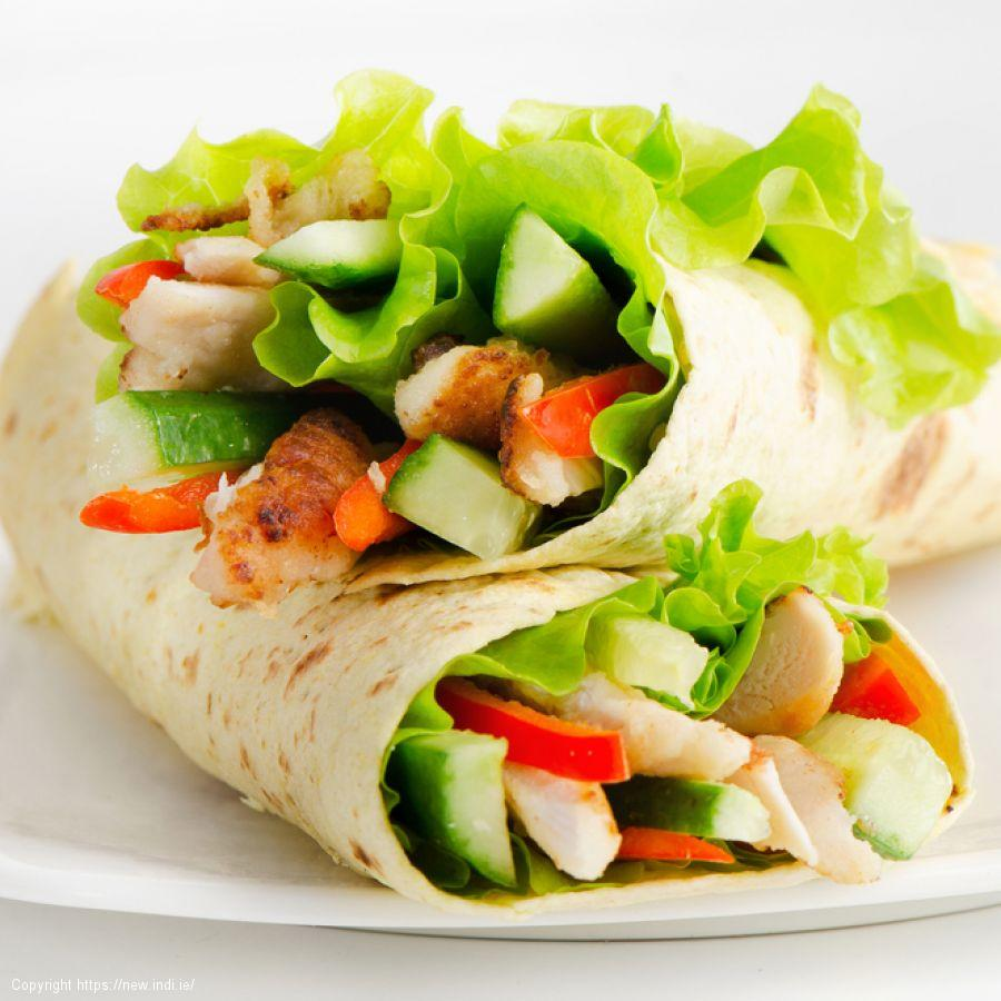 Cajun chicken and avocado wraps