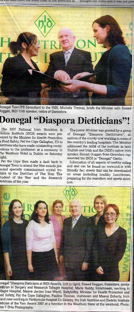 Donegal Dietitians featured in Donegal Democrat